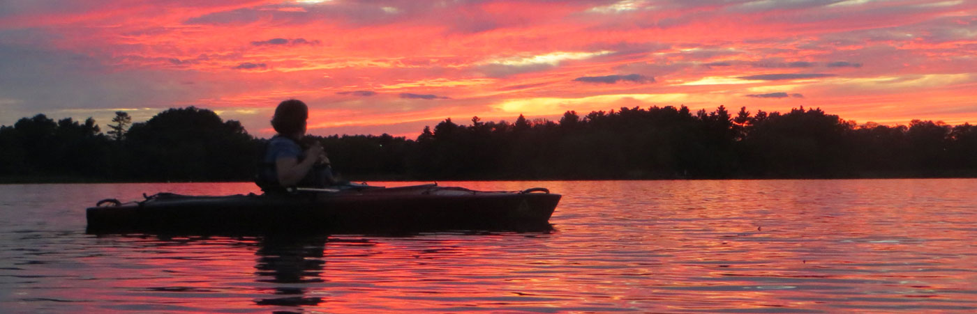 norton reservoir kayak at sunrise